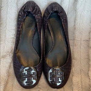 Tory Burch Reva Leather Flats